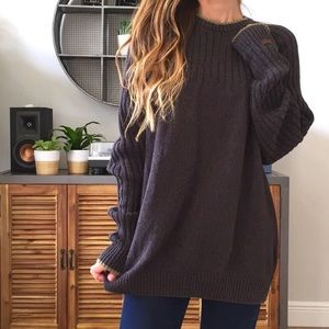 Oversized Columbia Sweater
